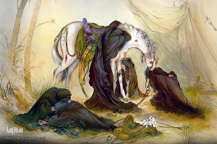 نقاشی استاد فرشچیان عاشورا